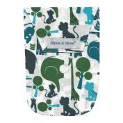 25cm x 16cm x 0.8cm , Cute Nappy Pouch in Safari Blue
