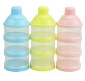 Rainbowlight 3 Cells Portable Baby Infant Feeding Milk Powder Foof Container Box Organiser Bottle Random Colour