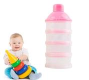 Rainbowlight 4 Cells Portable Baby Infant Feeding Milk Powder Container Box Food Organiser Bottle Random Colour