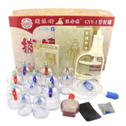 Generic Traditional Medical 12 Pieces Vacuum Cups Biomagnetic Chinese Cupping Therapy Set