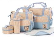 Youtumall Multifunctional 5-in-1 Mummy Handbag Large Capacity Baby Nappy Nappy Changing Pad Set