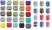 Blueberry Nappies - Berry Pod & Cloth Nappy Bundle - Includes 3 One Size Simplex and 1 Berry Pod