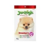 New Jerhigh Strawberry Stick Premium Dog Snack Great Taste for Great Happiness 70g.