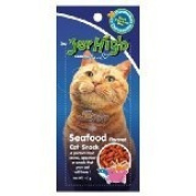 New Jerhigh Seafood Flavoured Cat Snack Great Taste for Great Happiness 40g.