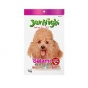 New Jerhigh Salami Premium Dog Snack Great Taste for Great Happiness 70g.