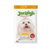 New Jerhigh Milky Stick (Milk Flavour) Dog Snack Great Taste for Great Happiness 70g.