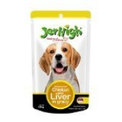 New Jerhigh Chicken and Liver in Gravy Dog Meal with Vitamin E Great Taste for Great Happiness 120g.
