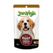 New Jerhigh Beef Grilled & Carrot In Gravy Dog Meal with Zinc and Omega3 Great Taste for Great Happiness 120g.