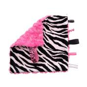 Pink Zebra Pacifier Blanket