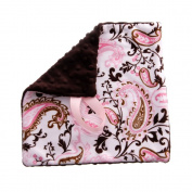Pink Paisley Soft Paci Blanket