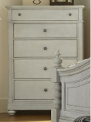 Harbour View 5 Drawer Chest in Dove Grey Finish