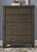 Modern Country 6 Drawer Chest in Smokey Pewter Finish
