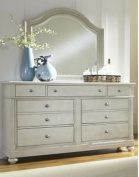 Liberty Furniture Harbour View Dresser & Mirror in Dove Grey Finish