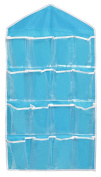 OUUD 16 Pockets Clear Over Door Hanging Storage Bags Organiser for Socks Jewellery Bra Underwear