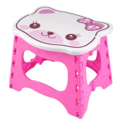 Kids Step Stool 23cm width by 20cm tall, Fold able easy to carry. Teddy face on top to add colour & fun!