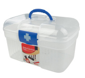 Anbers Hone First Aid Clear Container Bin / Family Emergency Kit Storage Box / Detachable Tray, O