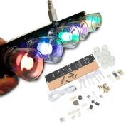 6 LEDs Novelty Signal Light Clock DIY Kit IQ & EQ Development Education Learning Kit Engineer Starter toy Hobby Electronic Kit W/USB Cable ERG-10