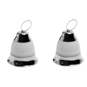 LEDHOLYT 2pcs Battery Powered Decorative Bell Light Sound Control for Outdoor Indoor Christmas Festival