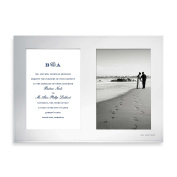 """Double 13cm x 18cm Picture Frame Engraved """"Mr. and Mrs."""" Holds two 13cm x 18cm photos in Silver plate"""