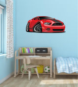 90cm Cartoon 2013 RACE SPORTS RACING CAR #2 RED Wall Sticker Kids Decal Baby Room Home Art Décor Man Cave Den Graphic LARGE