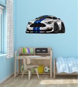 90cm Cartoon 2016 RACE SPORTS RACING CAR #1 SILVER Wall Sticker Kids Decal Baby Room Home Art Décor Man Cave Den Graphic LARGE