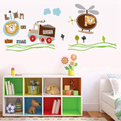 Cartoon Wall Stickers Children Room Home Decor Boys Adhesive for Kids Room