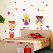 Lovely Angel Wall Stickers Children Room Home Decor Baby Adhesive for Kids Room