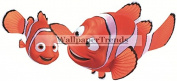 18cm Marlin Clownfish Clown Fish Finding Nemo Dad 2 Movie Removable Peel Self Stick Wall Decal Sticker Art Bathroom Kids Room Walt Disney Pixar Home Decor Boys Girls 18cm wide by 7.6cm tall
