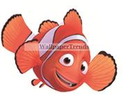 7.6cm Marlin Clownfish Clown Fish Finding Nemo Dad 2 Movie Removable Peel Self Stick Wall Decal Sticker Art Bathroom Kids Room Walt Disney Pixar Home Decor Boys Girls 8.9cm wide by 6.4cm tall