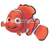 10cm Clownfish Clown Fish Finding Nemo 2 Movie Removable Peel Self Stick Wall Decal Sticker Art Bathroom Kids Room Walt Disney Pixar Home Decor Boys Girls 11cm wide by 6.4cm tall