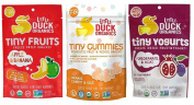 Little Duck Organics Tiny Snacks 3 Flavour Variety Bundle