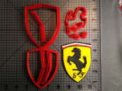 Baby Shower Ferrari Logo Cookie Cutter Set 10cm