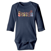 ElishaJ Serena Tennis Williams Babys Unisex Long Sleeve Bodysuit Outfits Navy