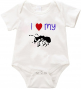 VRW I love my Aunt unisex baby Onesie Romper Bodysuit