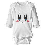 LALayton Cute Face Lovely For Baby Climbing Long Sleeved Clothing White