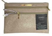 Jones New York Signature Charging Pouch Clutch Purse Pink Sand Textured