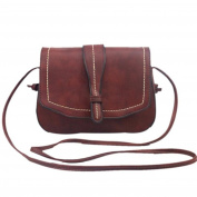 HN Retro Women Messenger Shoulder Bag Leather Satchel Handbag Tote