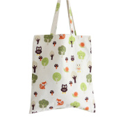 Flowertree Women's Cute Animal Print Canvas Tote Bag