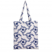 Flowertree Women's Cartoon Floral Fruit Print Canvas Tote Bag