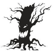Charberry Devil Tree Wall Sticker Window Home Decoration Decal Decor