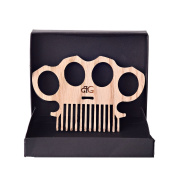 Wooden Knuckles Beard Comb In High Gloss Protective Finish By Beard Gains