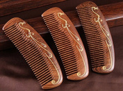 Cavin Schon Wenge Wood Comb - Flowery design on full comb back & extra luxurious feel