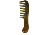 Cavin Schon Green Sandalwood Wood Comb, all natural Wide Teeth Beard and Hair Comb, Aromatherapy combing experience