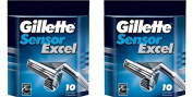 Gilletté Sensor Excel Refill Cartridges 20 Count