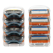 Manual Men's Replacement Razor Blade Refills Compatible for Gillette