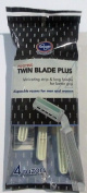 4 Pack Twin Blade Plus Disposable Razors for Men and Women
