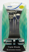 3 Pack GT3 Triple Blade Disposable Razors for Men -Meijer