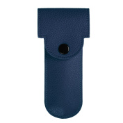 Fintie PU Leather Double Edge Safety Razor Protective Travel Case Cover with Felt Lining, Navy