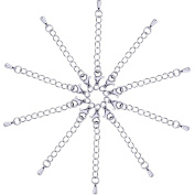 Outus 10 Pack Stainless Steel Necklace Extender Chains Jewellery Extenders, Silvery
