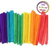 kedudes Wood Coloured Craft Stick, 11cm - Pack of 240